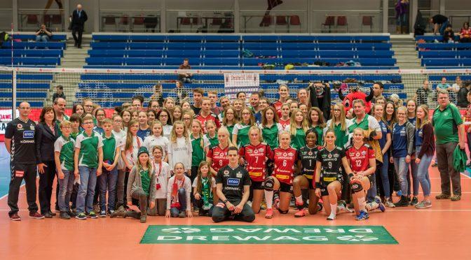 Volleyballjugend gewinnt Training beim Deutschen Meister